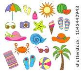 set of handmade symbols and... | Shutterstock .eps vector #1043442943