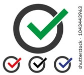 green check mark icon in a... | Shutterstock .eps vector #1043443963
