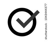 grey check mark icon in a... | Shutterstock .eps vector #1043444377