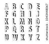 font sketch hand drawing vector ... | Shutterstock .eps vector #1043448067