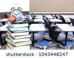 nobody in empty classroom for... | Shutterstock . vector #1043448247
