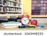 library and back to school... | Shutterstock . vector #1043448253