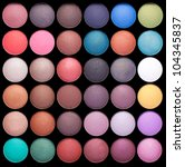make up colorful eyeshadow... | Shutterstock . vector #104345837