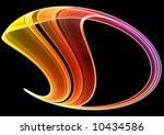 colorful abstract fractal on... | Shutterstock . vector #10434586