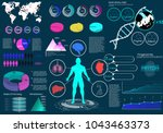 medical infographics set with...   Shutterstock .eps vector #1043463373