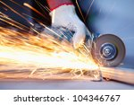 metal sawing close up | Shutterstock . vector #104346767