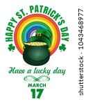 st. patricks day design with... | Shutterstock .eps vector #1043468977