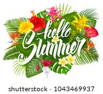 summer tropical design for... | Shutterstock .eps vector #1043469937