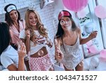 joy of hanging out together.... | Shutterstock . vector #1043471527