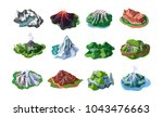 nature mountain landscapes set... | Shutterstock .eps vector #1043476663