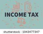 conceptual business... | Shutterstock . vector #1043477347