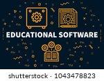 conceptual business... | Shutterstock . vector #1043478823