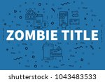 conceptual business...   Shutterstock . vector #1043483533