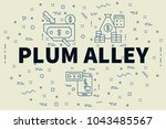 conceptual business...   Shutterstock . vector #1043485567