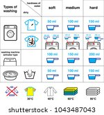 set of icons for washing.... | Shutterstock .eps vector #1043487043