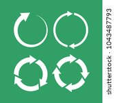 360 degree loop arrow icon set... | Shutterstock .eps vector #1043487793