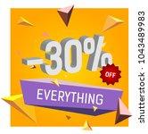 minus thirty percent off... | Shutterstock .eps vector #1043489983