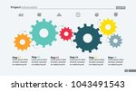 six step process chart with...   Shutterstock .eps vector #1043491543