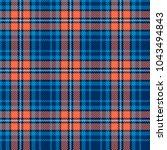 seamless vector tartan pattern | Shutterstock .eps vector #1043494843