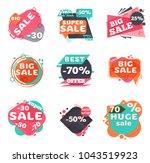 set of modern sale labels....   Shutterstock .eps vector #1043519923