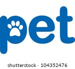 Pet - stock vector