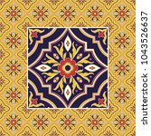 italian tile pattern vector... | Shutterstock .eps vector #1043526637