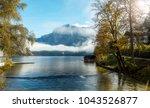 amazing alpine valley in... | Shutterstock . vector #1043526877