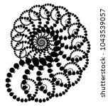 vector fractal beaded spiral... | Shutterstock .eps vector #1043539057