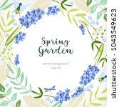 background spring summer floral ... | Shutterstock .eps vector #1043549623