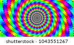 vector iridescent phyllotaxis... | Shutterstock .eps vector #1043551267