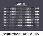 moon phases calendar vector | Shutterstock .eps vector #1043553427