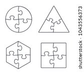 puzzle line icons collection ... | Shutterstock .eps vector #1043556373