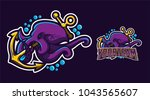squid kraken octopus mascot...   Shutterstock .eps vector #1043565607
