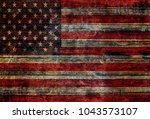Wood Usa Flag Background Texture