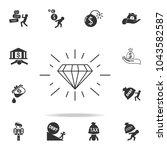 diamond icon. detailed set of... | Shutterstock .eps vector #1043582587