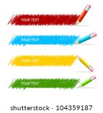 vector colorful text box and... | Shutterstock .eps vector #104359187