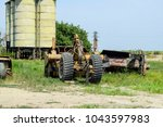 Grader On A Trailer For Heavy...