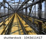 shiny overpass for cables  gas... | Shutterstock . vector #1043611417