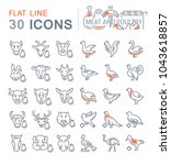 set of vector line icons  sign... | Shutterstock .eps vector #1043618857