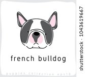french bulldog   dog breed... | Shutterstock .eps vector #1043619667