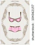 pink lingerie | Shutterstock .eps vector #104362157
