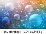 light blue  yellow vector... | Shutterstock .eps vector #1043634553