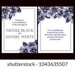 vintage delicate invitation...   Shutterstock . vector #1043635507