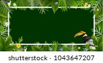 exotic tropical leaf background ... | Shutterstock .eps vector #1043647207