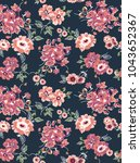 floral pattern on background   Shutterstock .eps vector #1043652367
