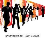 illustration of business people ... | Shutterstock .eps vector #10436536