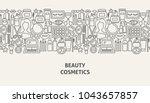cosmetics banner concept.... | Shutterstock .eps vector #1043657857