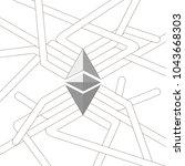 futuristic design elelment.... | Shutterstock .eps vector #1043668303