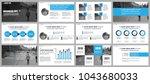 business presentation slides... | Shutterstock .eps vector #1043680033