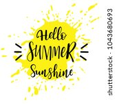 yellow spray and inscription...   Shutterstock .eps vector #1043680693